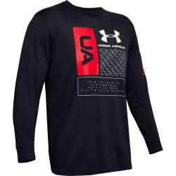 Tričko Under Armour   MULTI LOGO LS-BLK