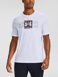 Tričko Under Armour UA BOX LOGO WORDMARK SS-WHT