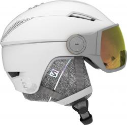 Prilba Salomon ICON2 VISOR PHOTO White/AW Red